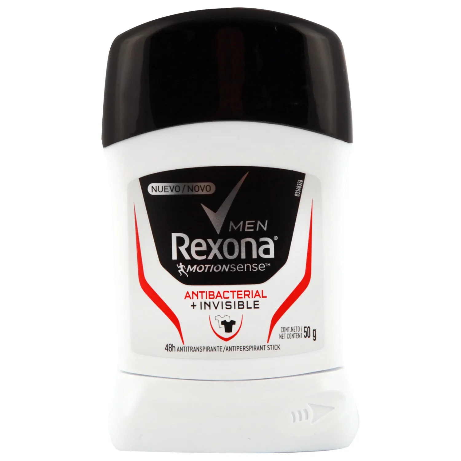 Desodorante en Barra Rexona Men Antibacterial Invisible x 50 g