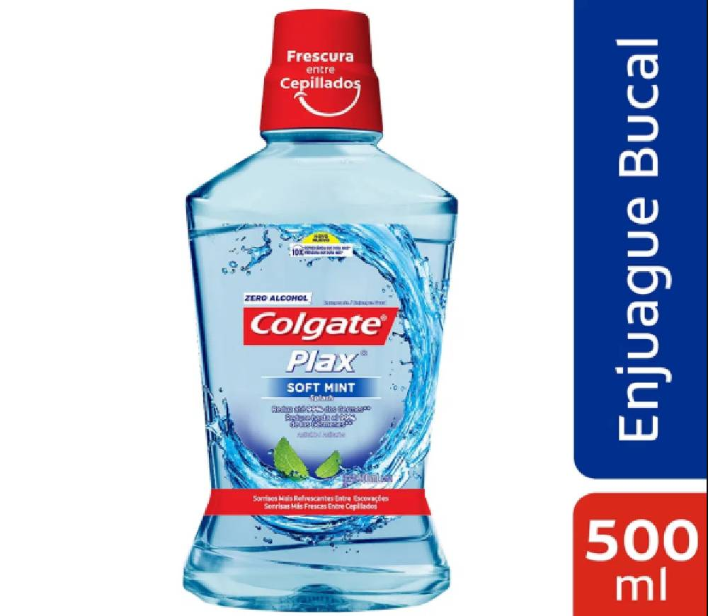 Colgate Enjuague Bucal Plax Soft Mint x 500 ml