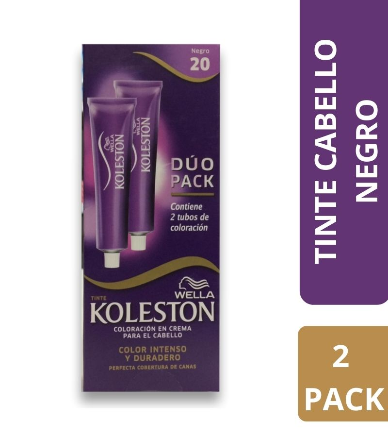 Tinte Koleston Duo Pack Negro 20