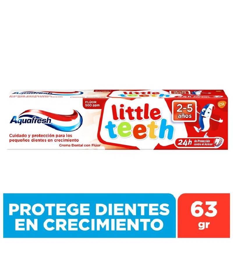 Pasta Dental Infantil Aquafresh Little Teeth 2 - 5 años