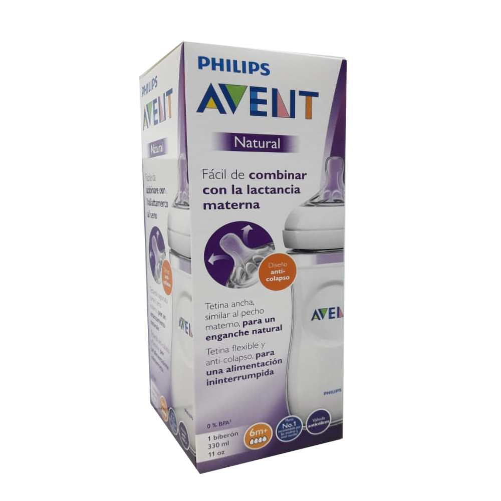 Biberón Avent  Natural Polipropileno  x 330 ml