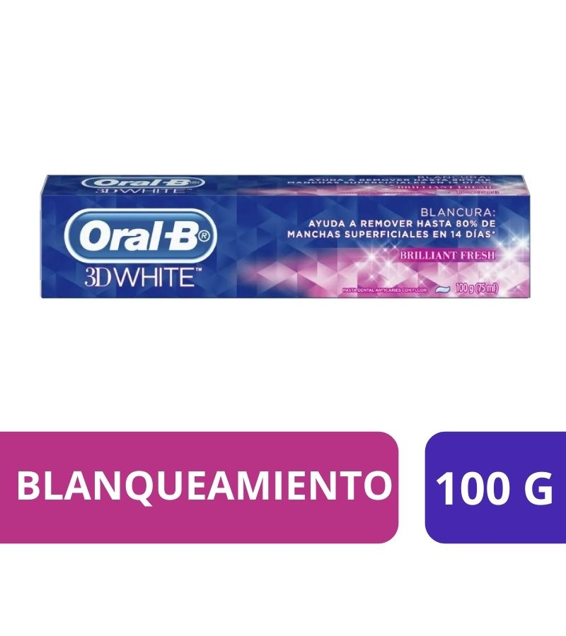 Pasta Dental Oral-B 3D White Brilliant Fresh x 100 g