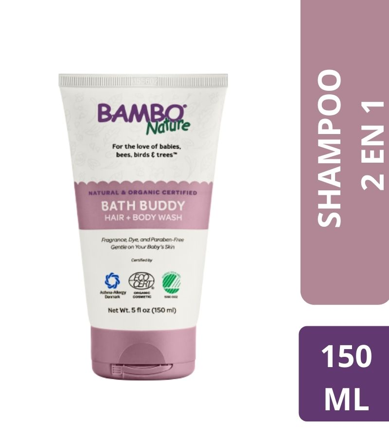 Shampoo & Jabón Bambo Nature Bath Buddy Hair + Body Wash  x 150 ml