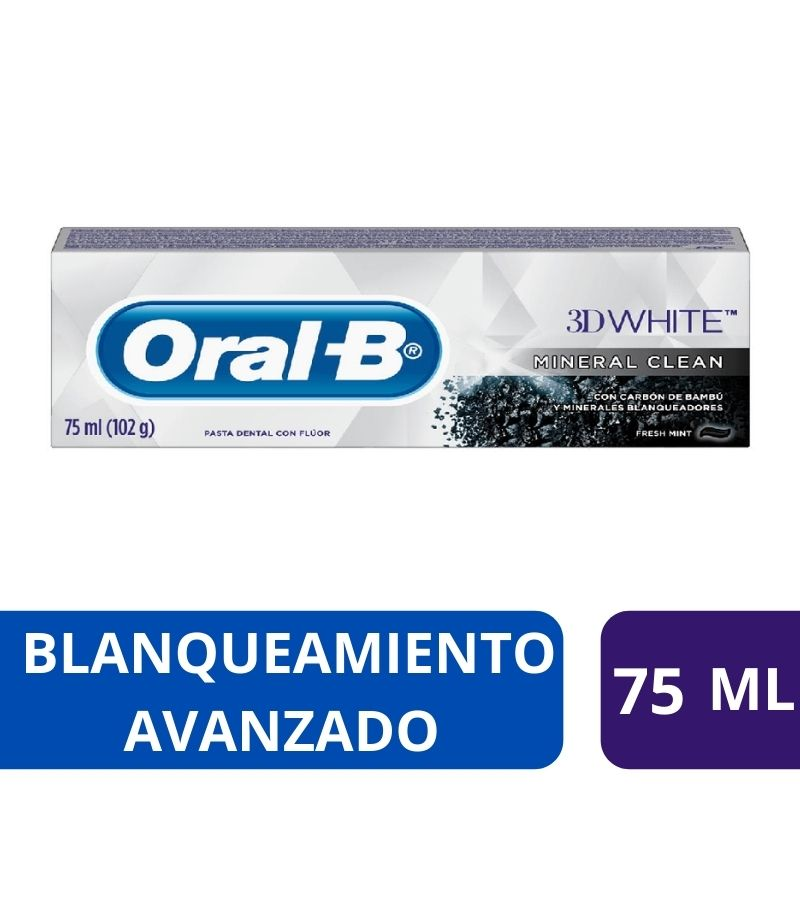 Pasta Dental Oral-B 3D White Mineral Clean x 75 ml