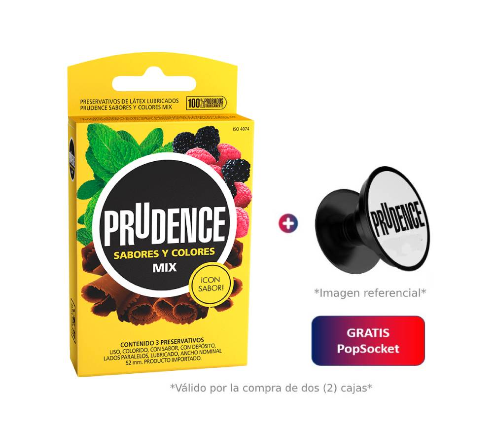 Prudence Mix x 3 Unidades + PopSocket de Regalo*