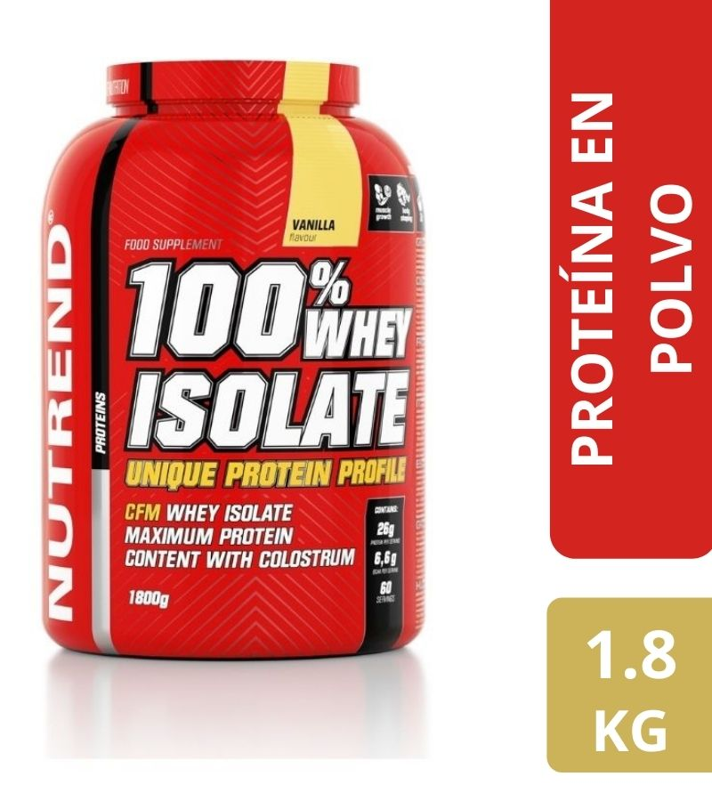 100% Whey Isolate Nutrend Vainilla  x 1.8 kg