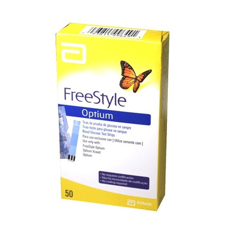 Tiras Reactivas Freestyle Optium x 50 Unidades