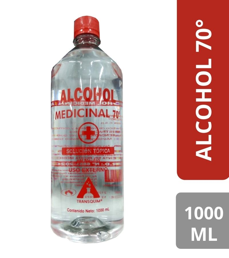 Alcohol Medicinal 70° Transquin x 1000 ml