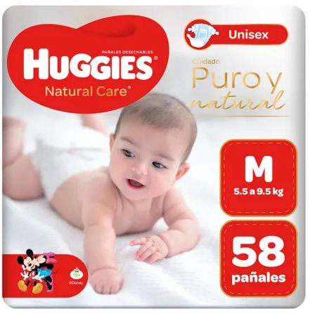 Huggies Puro y Natural M x 58 Pañales