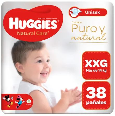 Huggies Natural Care Puro y Natural XXG x 38 Pañales