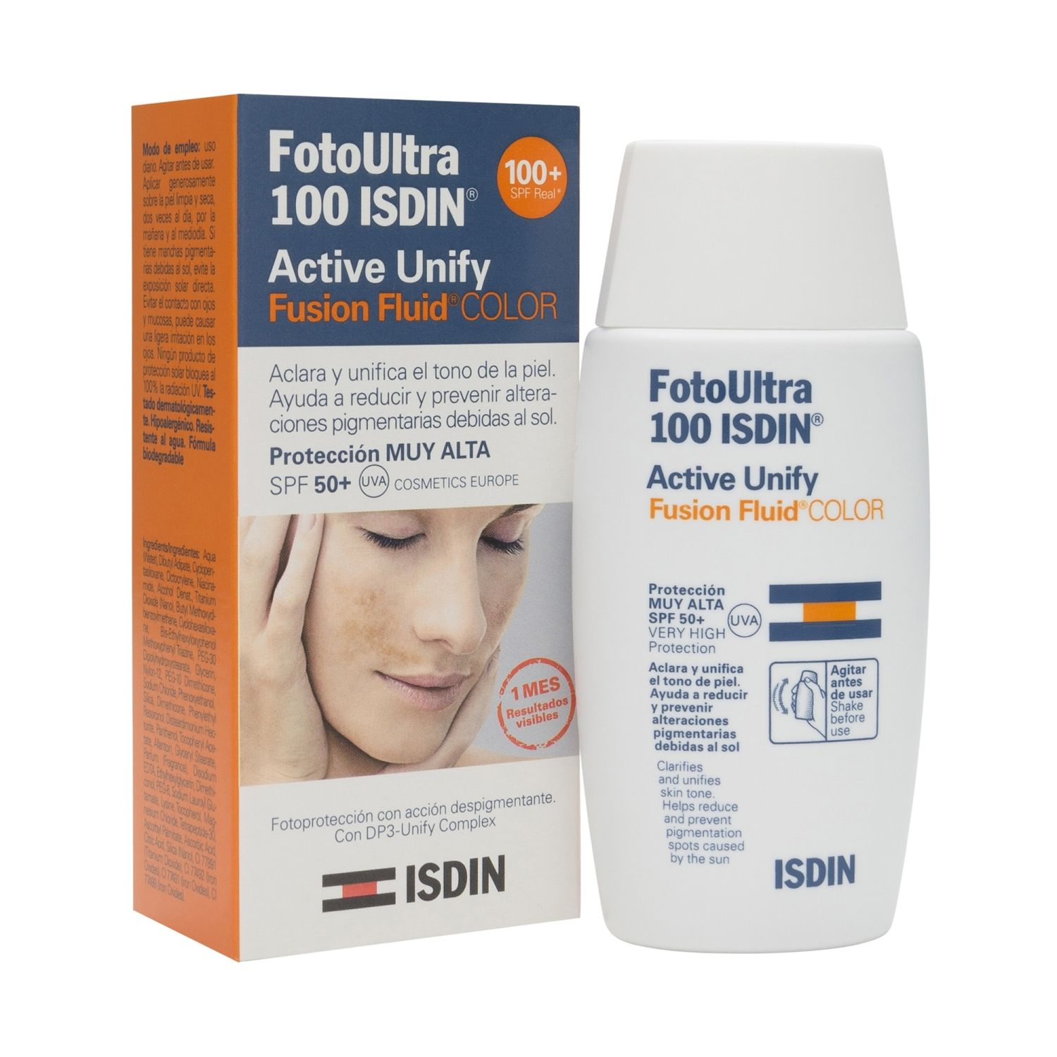 Fotoprotector Isdin Active Unify Fusion Fluido Color FPS 50 x 50ml