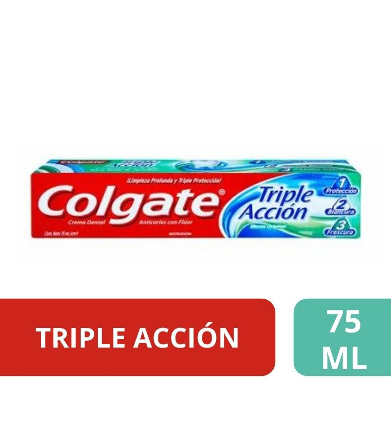 Colgate Crema Dental Triple Acción x 75ml