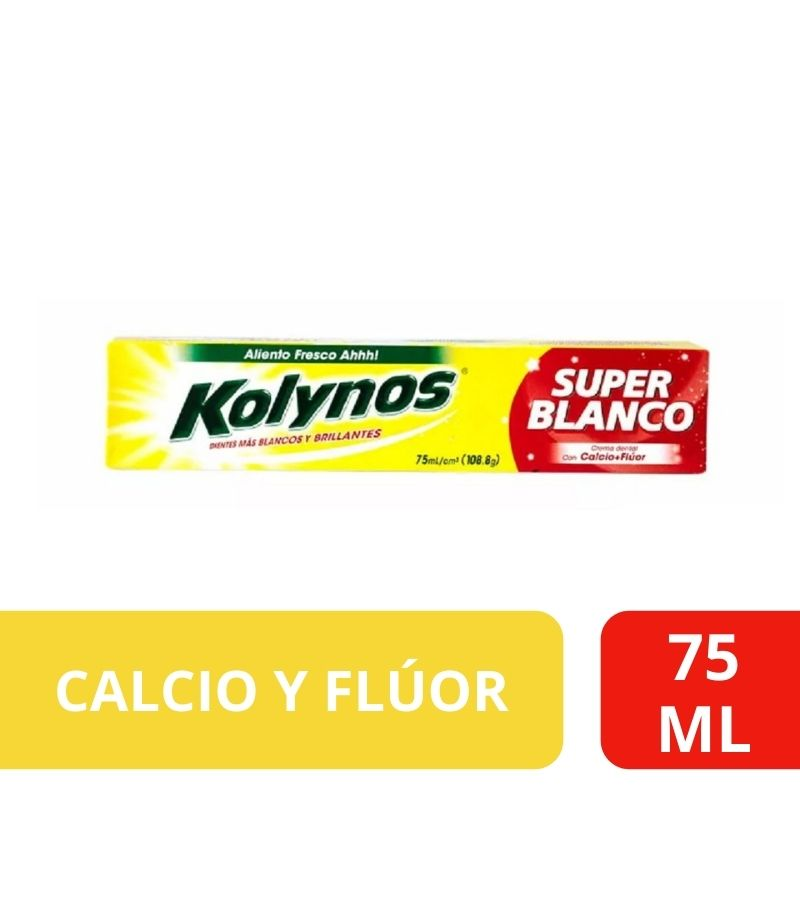 Pasta Dental Kolynos Super Blanco x 75 ml