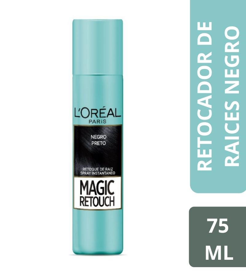 Retocador de Raíces L'Oreal Magic Retouch Negro x 75 ml