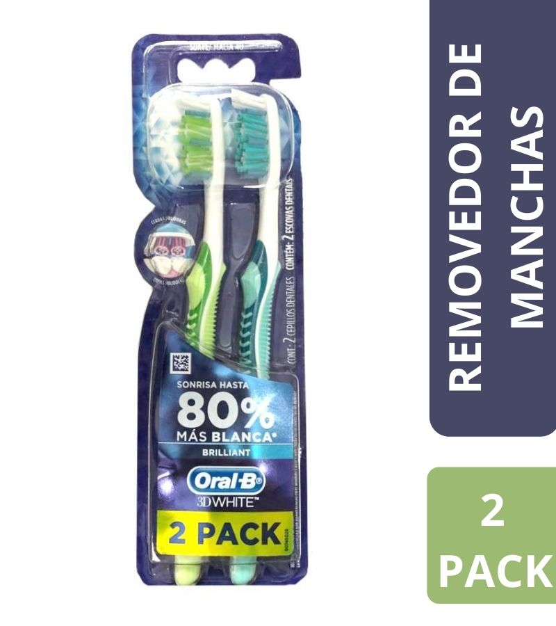 Cepillo Suave Oral-B 3D White Brilliant x 2 Unidades